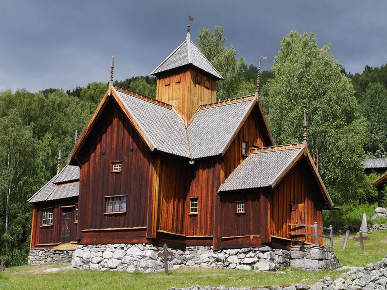 Обои Норвегия, деревянная, церковь. Разное foto 9